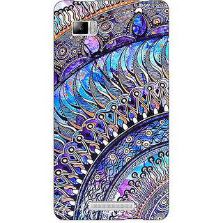 Enhance Your Phone Paisley Beautiful Peacock Back Cover Case For Lenovo K910