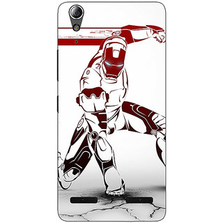 Enhance Your Phone Superheroes Ironman Back Cover Case For Lenovo A6000 Plus
