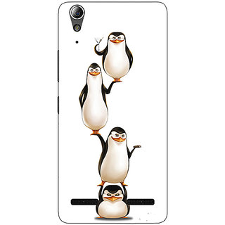 Enhance Your Phone Penguins Madagascar Back Cover Case For Lenovo A6000 Plus