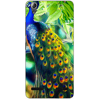 Enhance Your Phone Paisley Beautiful Peacock Back Cover Case For Lenovo A6000 Plus