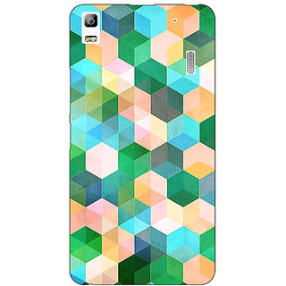Enhance Your Phone Green Hexagons Pattern Back Cover Case For Lenovo A7000