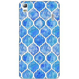 Enhance Your Phone White Blue Moroccan Tiles Pattern Back Cover Case For Lenovo A7000