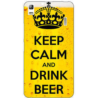 Enhance Your Phone Beer Quote Back Cover Case For Lenovo A7000