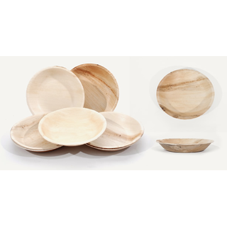 Natural Circular Leaf Plate Medium 18cm