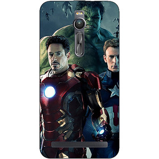 Enhance Your Phone Super Heroes Avengers Age of Ultron Back Cover Case For Asus Zenfone 2