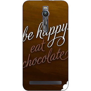 Enhance Your Phone Chocolate Quote Back Cover Case For Asus Zenfone 2
