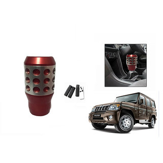 Takecare Car Red Gear Knob For For Mahindra Bolero 2011 Type-3