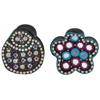 Maayra Pair of Multicolour Designer Cocktail Hair Clutchers