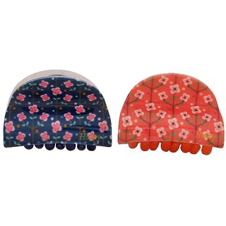 Maayra Pair of Multicolour Designer Party Hair Clutchers