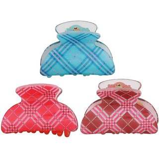 Maayra Combo of 3 Multicolour Designer College Hair Clutchers