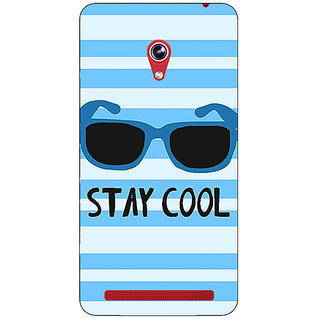 Enhance Your Phone Quotes Stay Cool Back Cover Case For Asus Zenfone 6 601CG