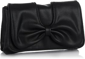 Butterflies Womens Designer  Black Color Clutch BNS 2131WC
