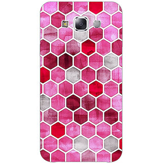 Enhance Your Phone Red Hexagons Pattern Back Cover Case For Samsung Grand Max