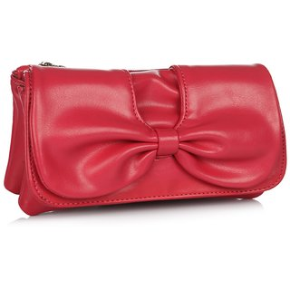 Butterflies Womens Designer  Pink Color Clutch BNS 2241WC
