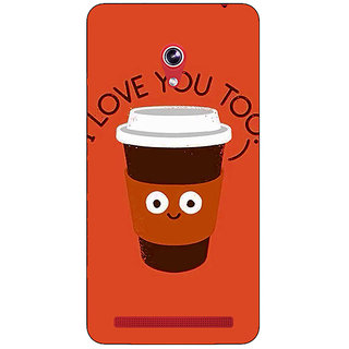 Enhance Your Phone Coffee Love Back Cover Case For Asus Zenfone 6 601CG