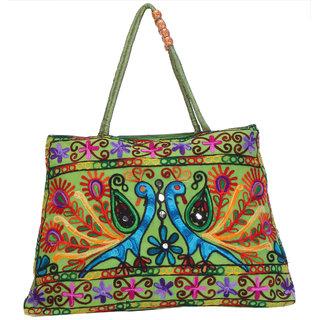 fa3f0490194 Lavender Womens Green Designer Embroided Handbag LEB-3017