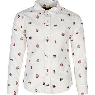 Silver Streak Boys Printed Casual Shirt