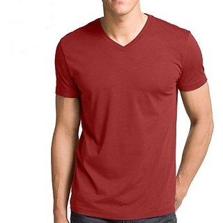 Vogue Solid Mens V-neck T-Shirt