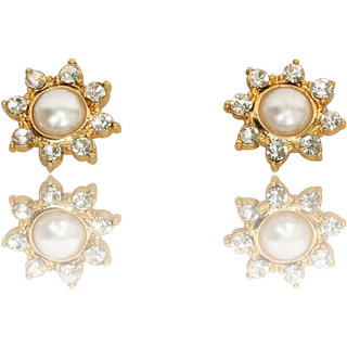 Touchstone Austrian Diamonds With Pearl Earring  Fgetaa04-03Ap-Y FGETAA04-03AP-Y