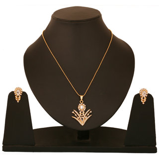 Touchstone Gold Plated Crowning Pendant Set FGPSA106-01A--Y