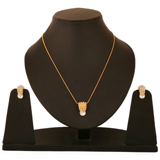 Touchstone Gold Plated Modern  Modern Style Pendant Set FPPS-526-01AP-Y