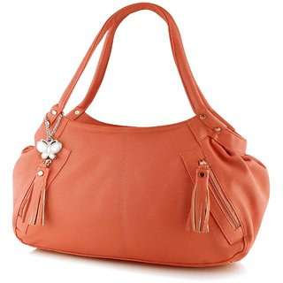 Butterflies Dark Peach Shoulder Bag