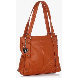 Butterflies Orange Shoulder Bag