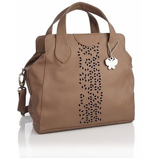 Butterflies Dark Brown Handbag
