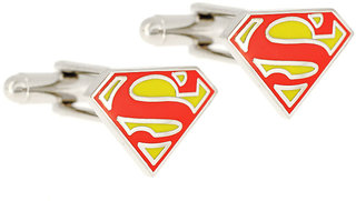 Super Man Red  Yellow Metal Cufflink