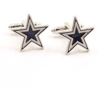 Navy And White Prismatic Star Cufflinks