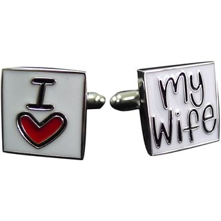I Love My Wife White Metal Cuffink
