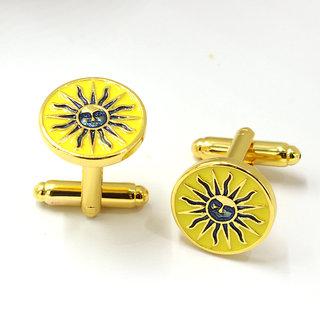 Sun Maya Logo Cufflink