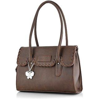 Butterflies Brown Shoulder Bag