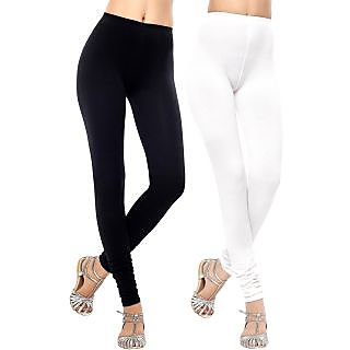 DeVry Combo of - White/Black Cotton Legging