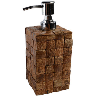 Opulent Homes Coconut shell soap dispenser