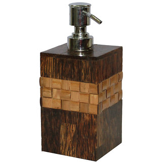 Opulent Homes Taadi Bamboo Soap dispenser