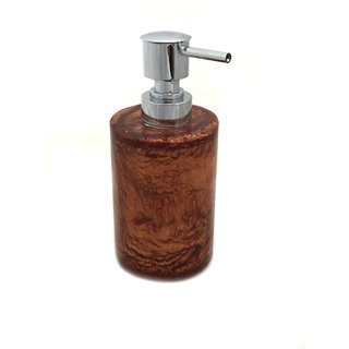 Opulent Homes soap dispenser in copper color