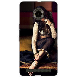 Enhance Your Phone Bollywood Superstar Nargis Fakhri Back Cover Case For Micromax Yu Yuphoria