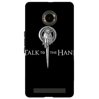 Enhance Your Phone Game Of Thrones GOT Hand Of The King Back Cover Case For Micromax Yu Yuphoria