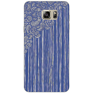 Enhance Your Phone Beauty Curtains Pattern Back Cover Case For Samsung S6 Edge+