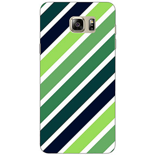 Enhance Your Phone Stripes Pattern Back Cover Case For Samsung S6 Edge+