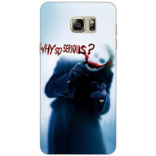 Enhance Your Phone Villain Joker Back Cover Case For Samsung S6 Edge+