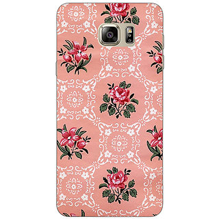 Enhance Your Phone Floral Pattern  Back Cover Case For Samsung S6 Edge+