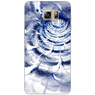 Enhance Your Phone Abstract Flower Pattern Back Cover Case For Samsung S6 Edge+