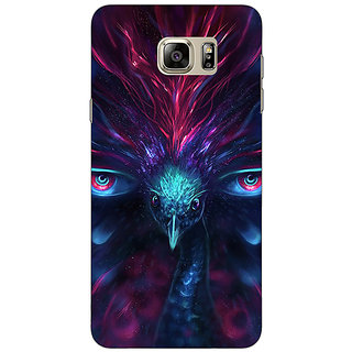 Enhance Your Phone Paisley Beautiful Peacock Back Cover Case For Samsung S6 Edge+