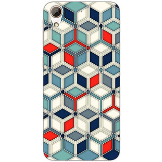 Enhance Your Phone Wild Hexagon Pattern Back Cover Case For HTC Desire 626