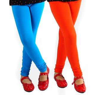 Cotton Legging  Combo Of Burnt Orange And Blue Colour