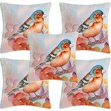 Krayon Vine Arts Digital Print Cushion Cover Set Of 5 Birds