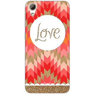 Enhance Your Phone Love Back Cover Case For HTC Desire 626G+