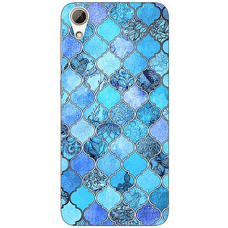 Enhance Your Phone Blue Moroccan Tiles Pattern Back Cover Case For HTC Desire 626G
